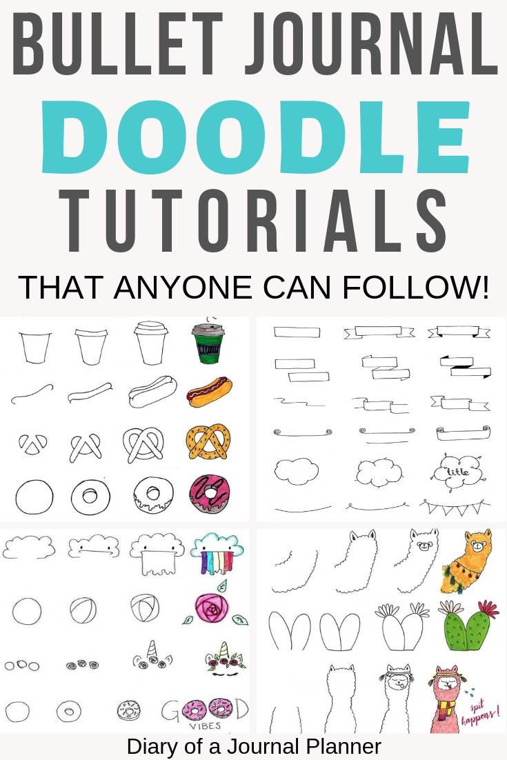 Ultimate List of Bullet Journal Doodles - 50 FREE Step-by