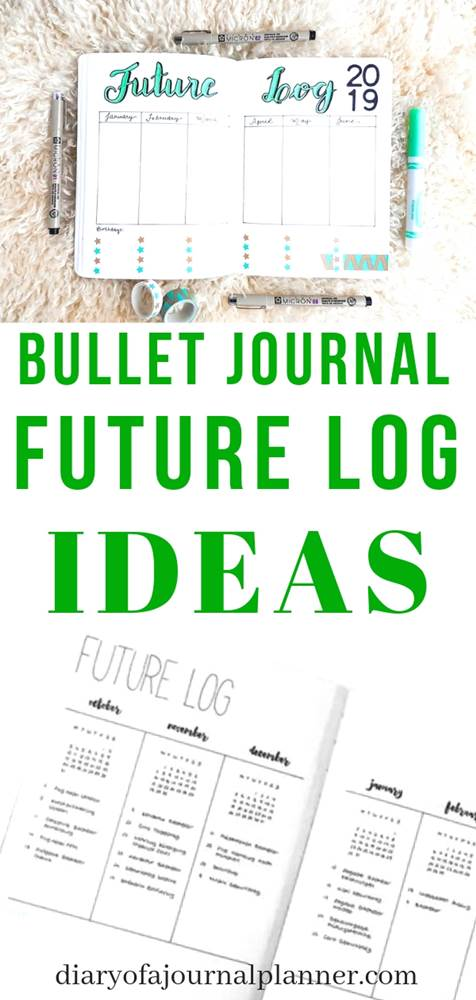 Bullet journal future log layout ideas to try in 2019.