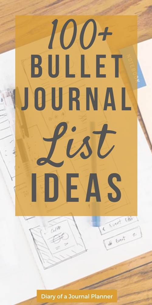 Bullet journal list ideas