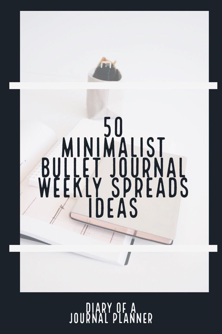 try these bullet journals minimalist spreads today
