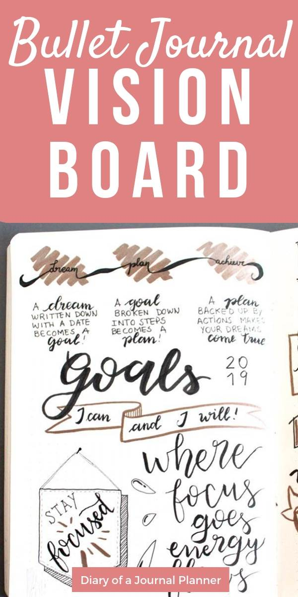 create a vision board in your bullet journal for 2019