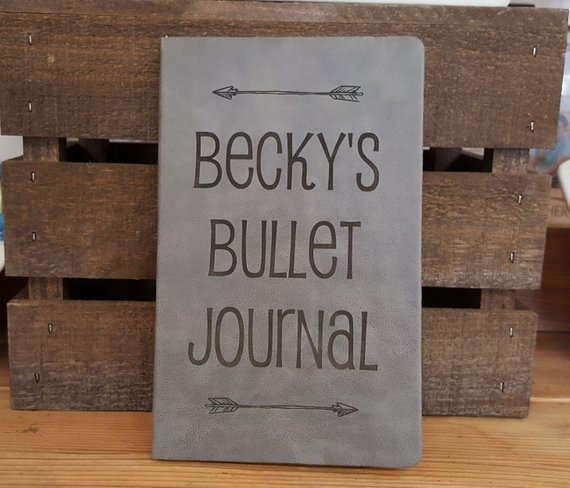 Bullet Journal Cover with Name
