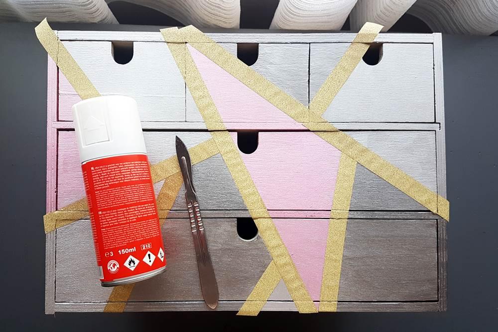 stationery organizer box makeover