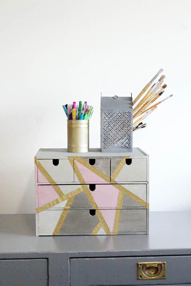 diy desk supplies organizer makeover