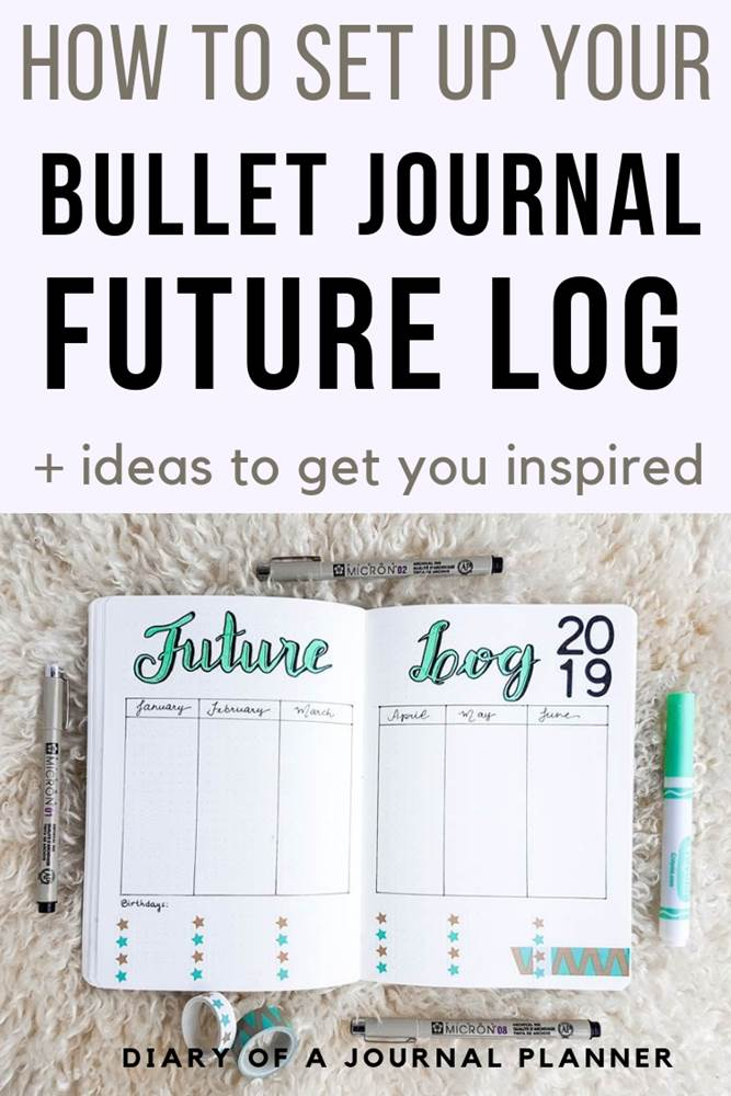 Amazing bujo future log ideas you can try on your bullet journal. From minimalist designs to vertical designs, these simple inspiration examples will help you track your goals and important long term planning tasks.