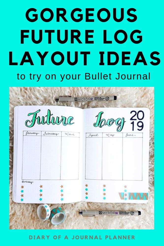 Need helping writing down your yearly tasks and future plan? Check out this post with beautiful one page future log examples, floral designs and lined layout templates to get you a head start with your future task planning.