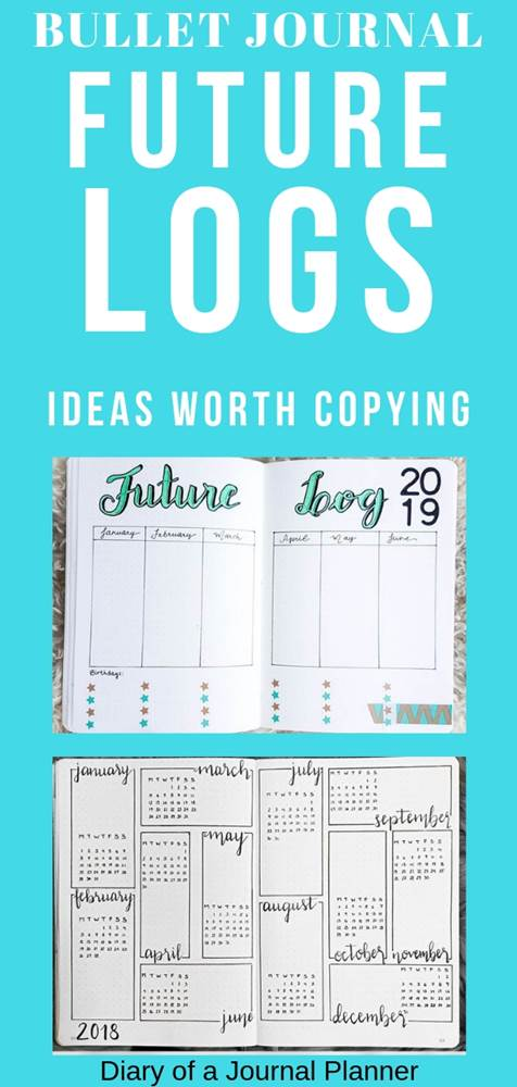 Find amazing calendar future log inspiration for your bullet journal here. Start your year with organization and get inspired by these amazing templates for future logging.