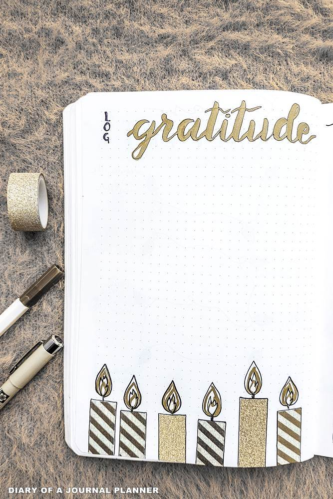 gratitude log bullet journal collection