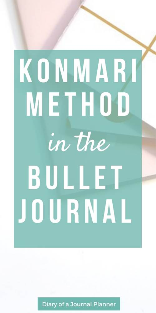 the konmari method in the bullet journal