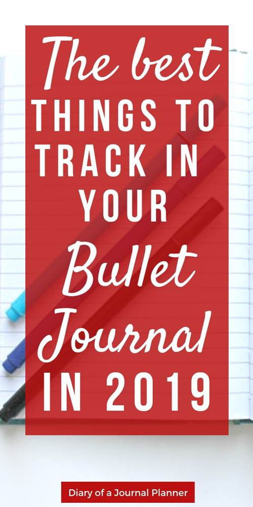 The best things to track in your bullet journal in 2019