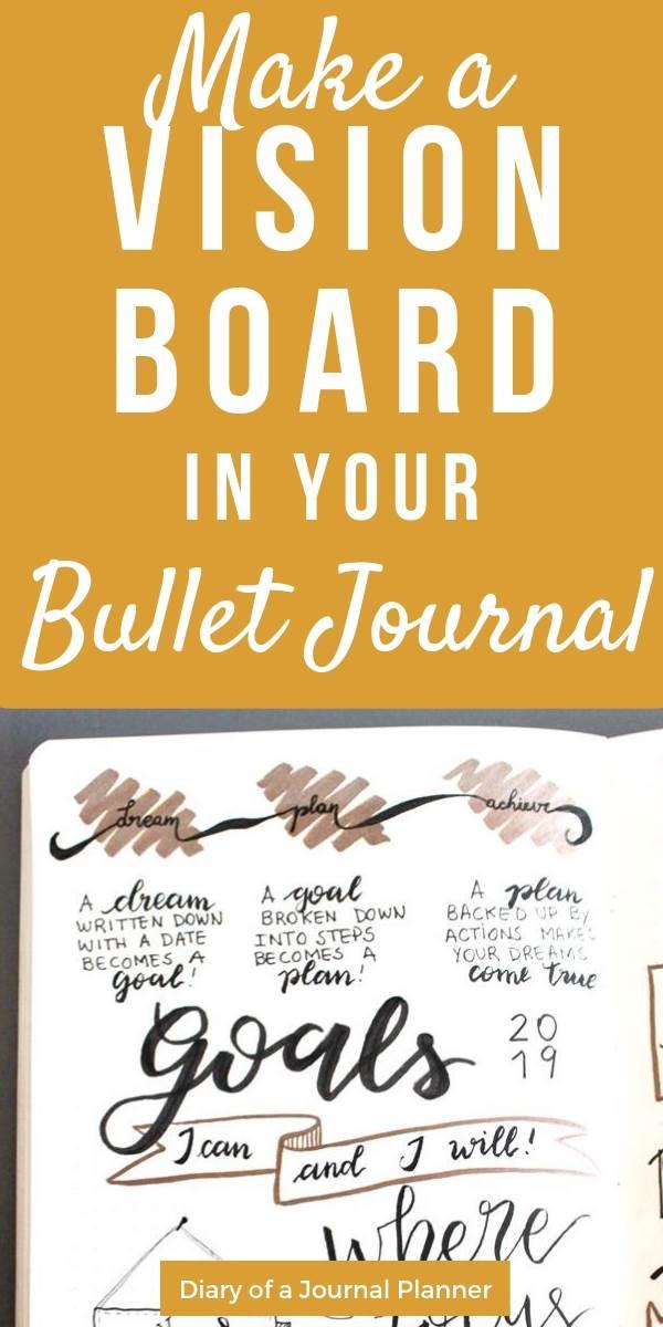 Bullet journal vision board