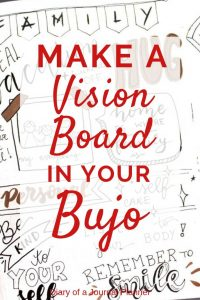make a vision board in your bujo