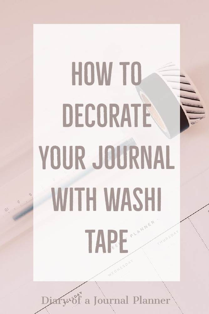 How to decorate your planner with washi tape - 40 ideas #washi #washitape #bulletjournal