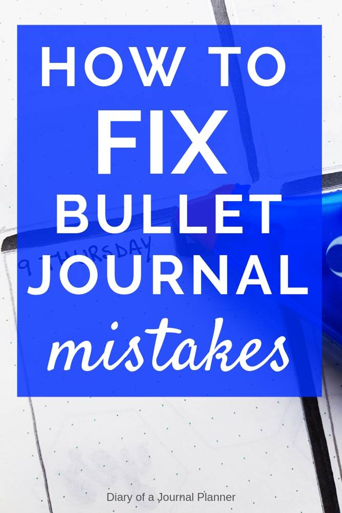 How to fix mistakes in your bullet journal