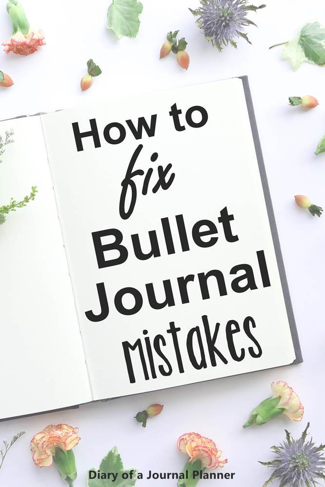 How to fix bullet journal mistakes