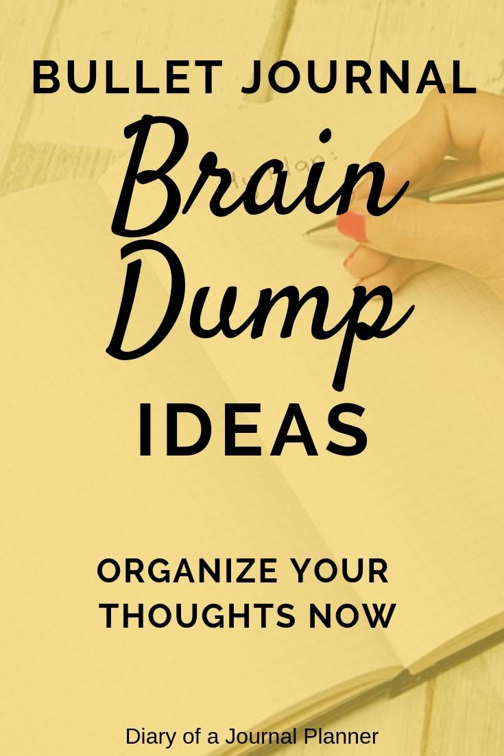 What is a brain dump and why you need this activity. Check out my brain dump spread here plus tips and tricks on how to do one.