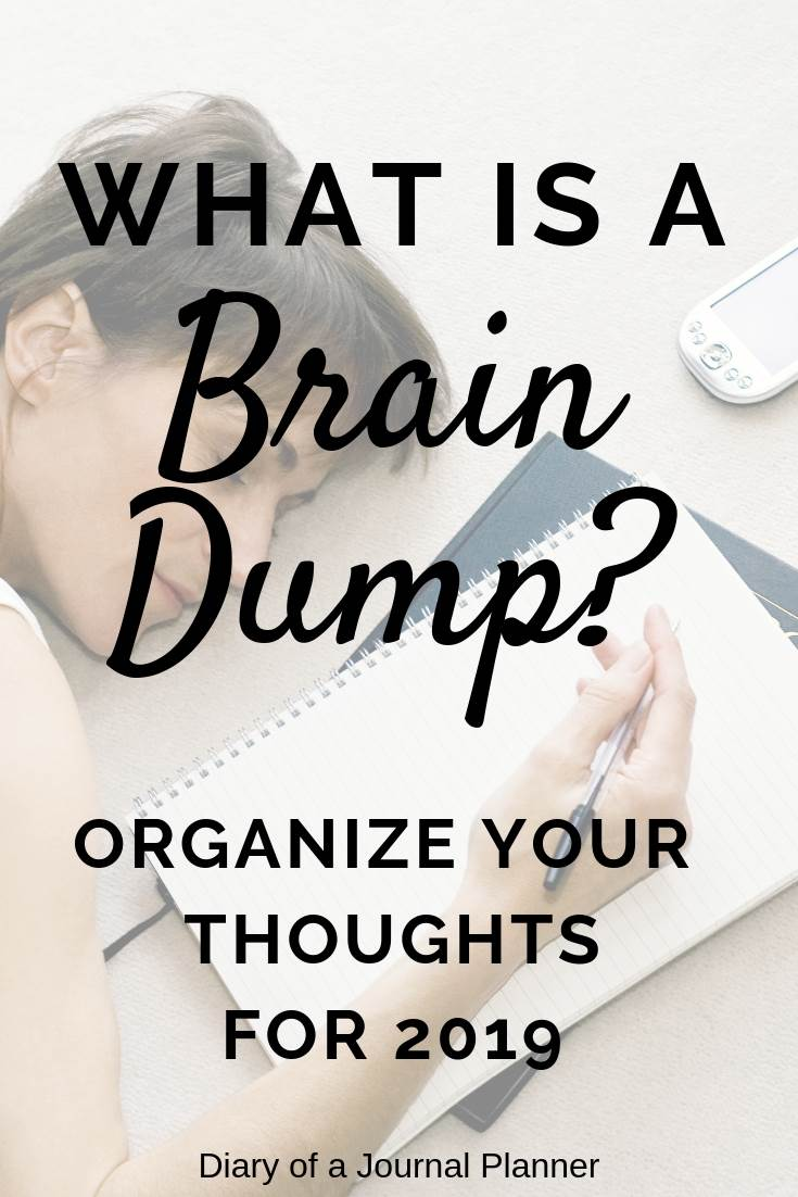 What is a brain dump and why I need it. A simple way to get your thoughts organized.