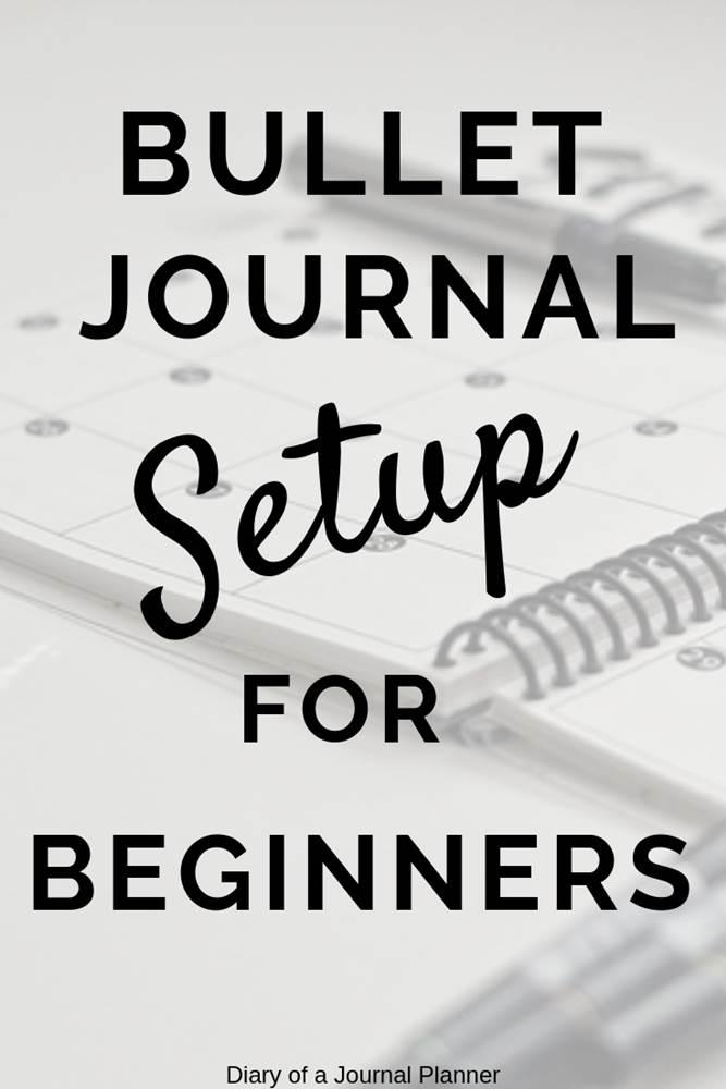 bullet journal set up for beginners