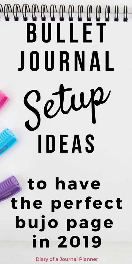 setting up your bullet journa, bujo setup ideas