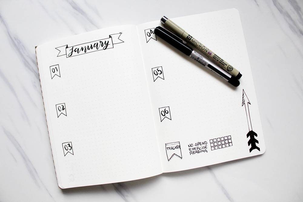 how to make homemade stencils for bullet journal and planner