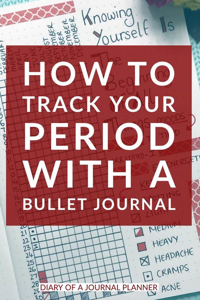 Bullet journal period tracker ideas to add to your bujo