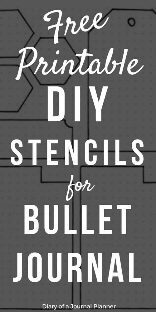 Free printable DIY stencils for bullet journal
