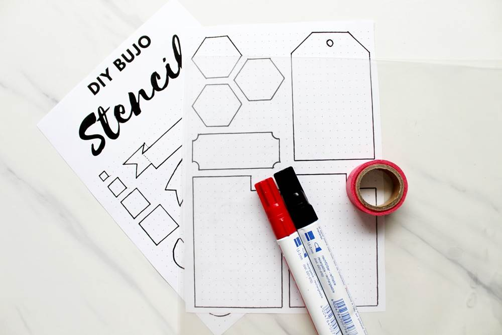how to make plastic stencils for bujo