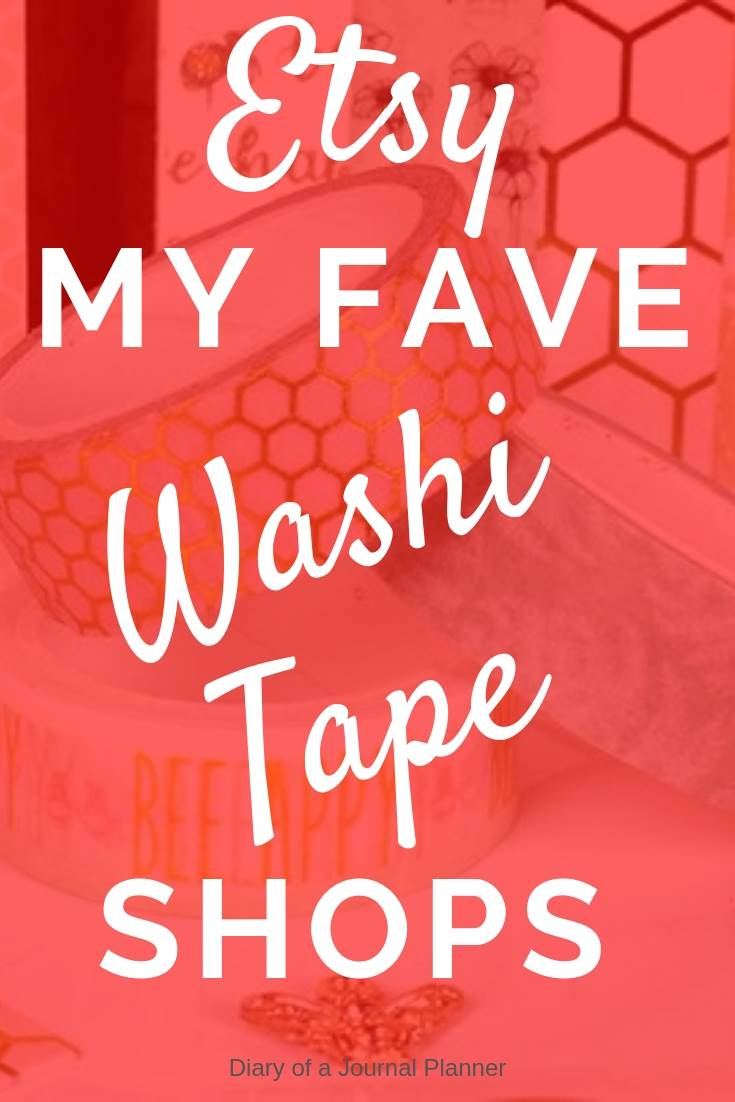 where do you buy washi tape? My fave etsy shops for cute washi tape