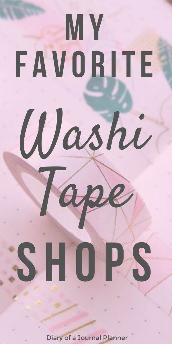 My favorite washi tape shops for cute places to buy washi tape