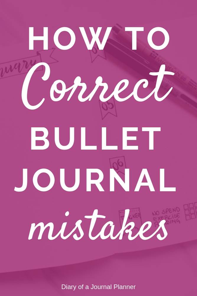 How to correct mistakes in your bullet journal