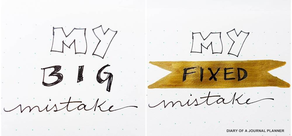 How to cover up mistakes in your bullet journal