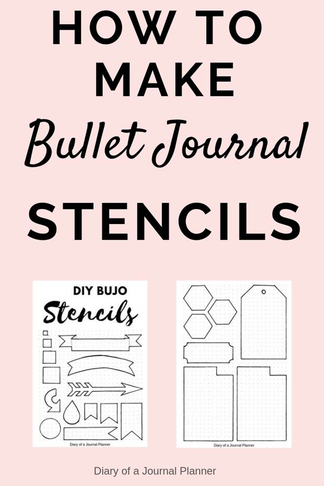 How to kae bullet journal stencils at home