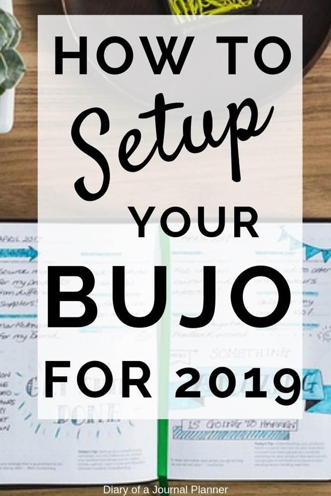 how to setup your bujo