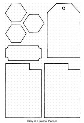 bullet journal simple stencil designs