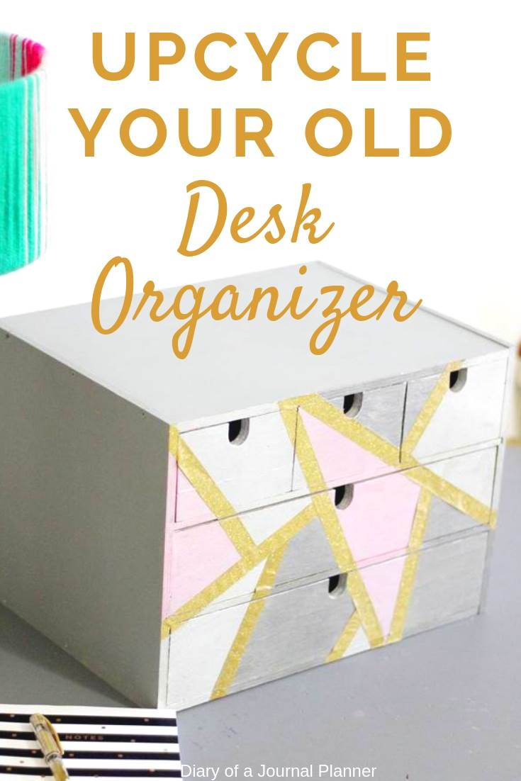 Amazing home office upcycling idea. Learn how to give your old desk organizer a new look.