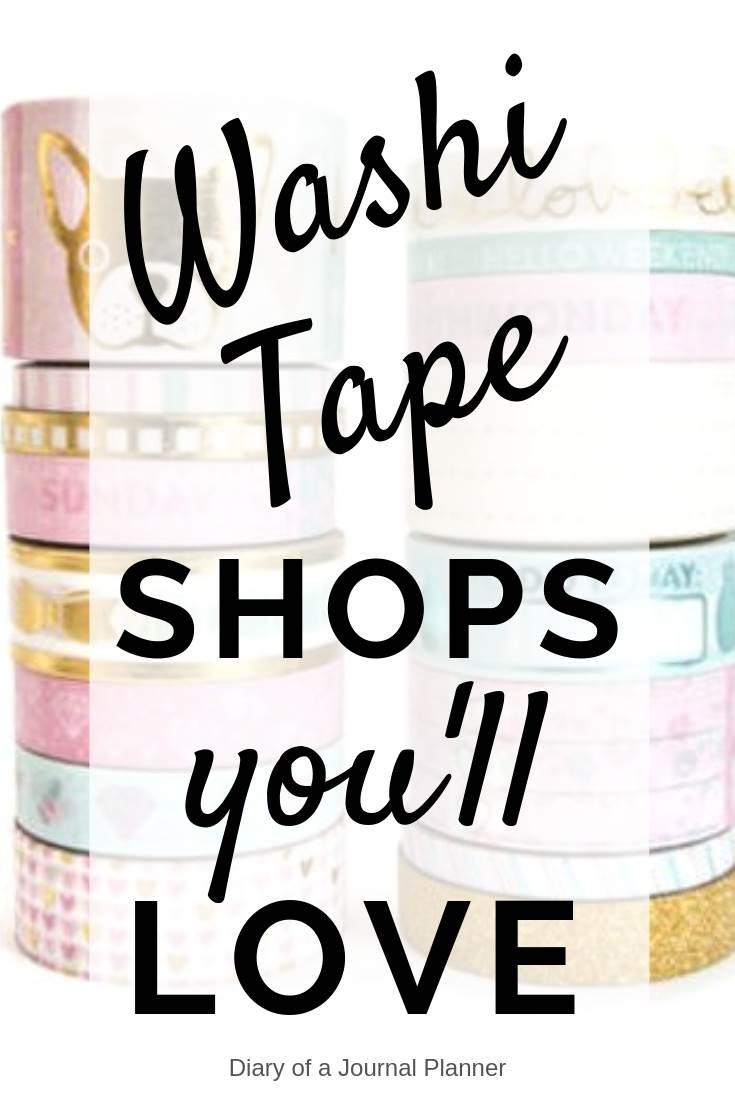 washi tape shops you'll love