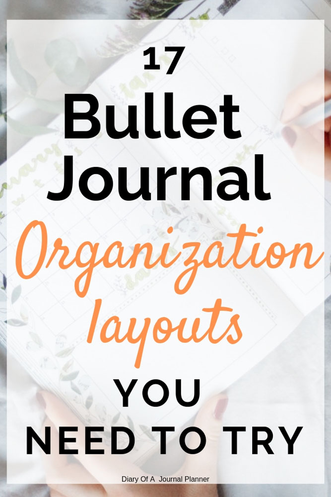 Bullet Journal Organization ideas. Get organized with these brilliant organization layouts for Bullet Journals