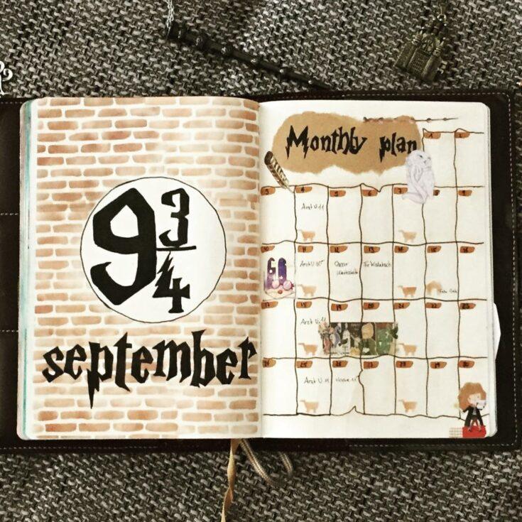 Platform 9 3/4 monthly layout