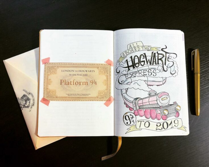 Harry Potter Hogwarts journal page