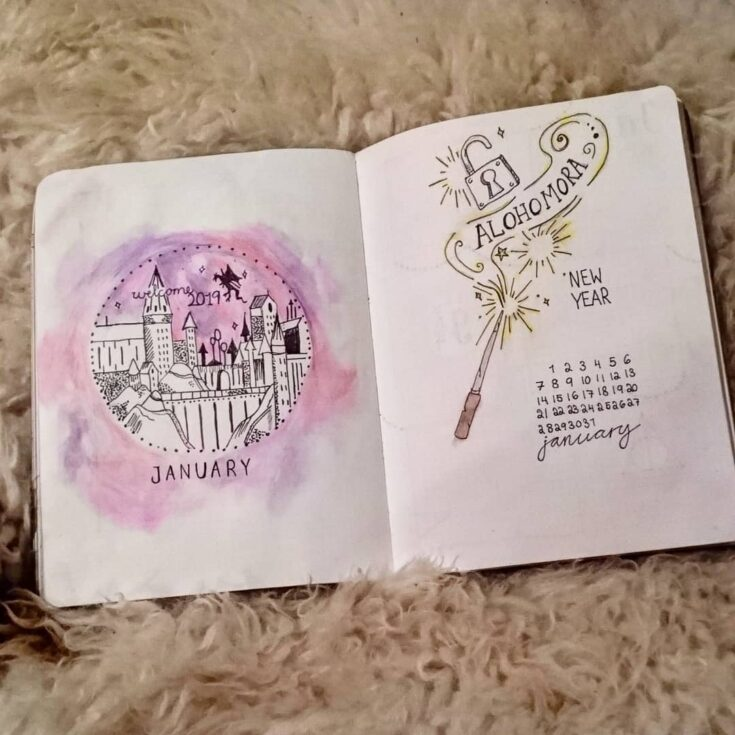 Harry Potter spell cover page
