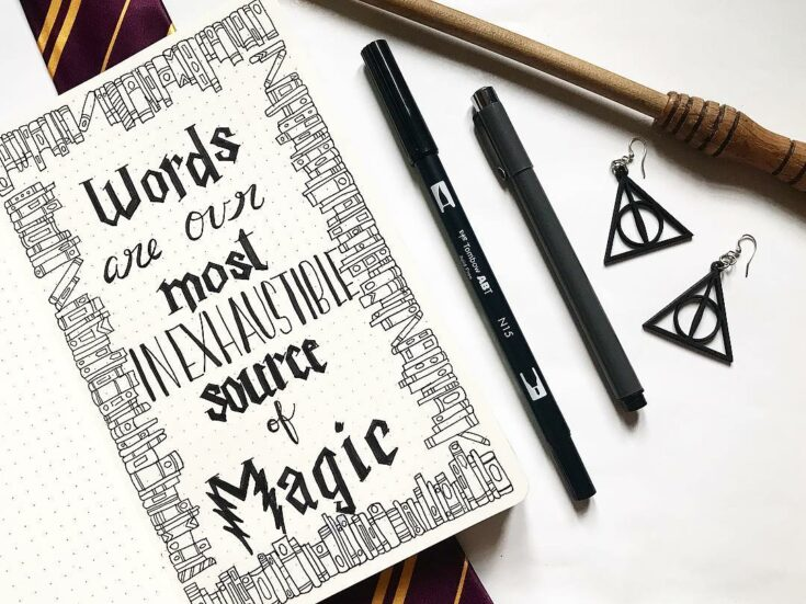 Harry Potter quote layout