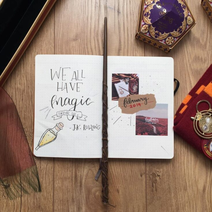 """We all have magic inside us"" quote page"