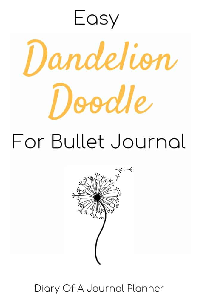 Easy Dandelion Doodle tutorial. Find out how to draw a dandelion the easy way.