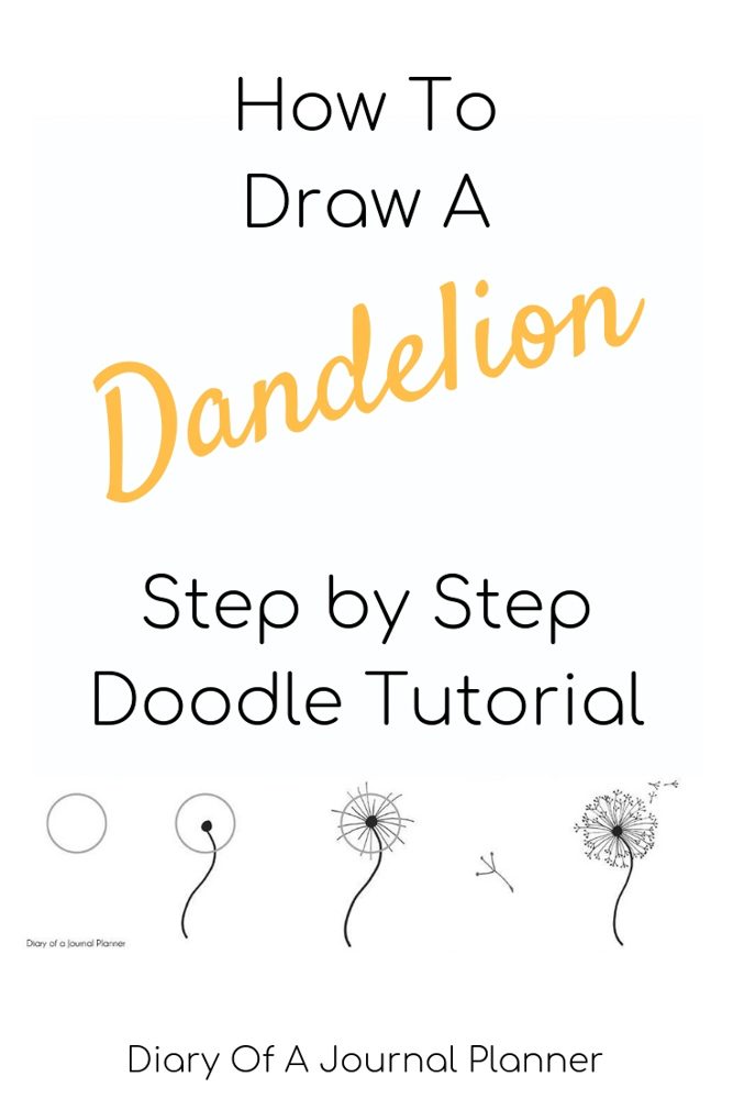 Leanr how to draw a dandelion doodle. Our super simple step-by-step drawing tutorial.
