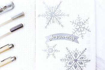 January bullet journal theme