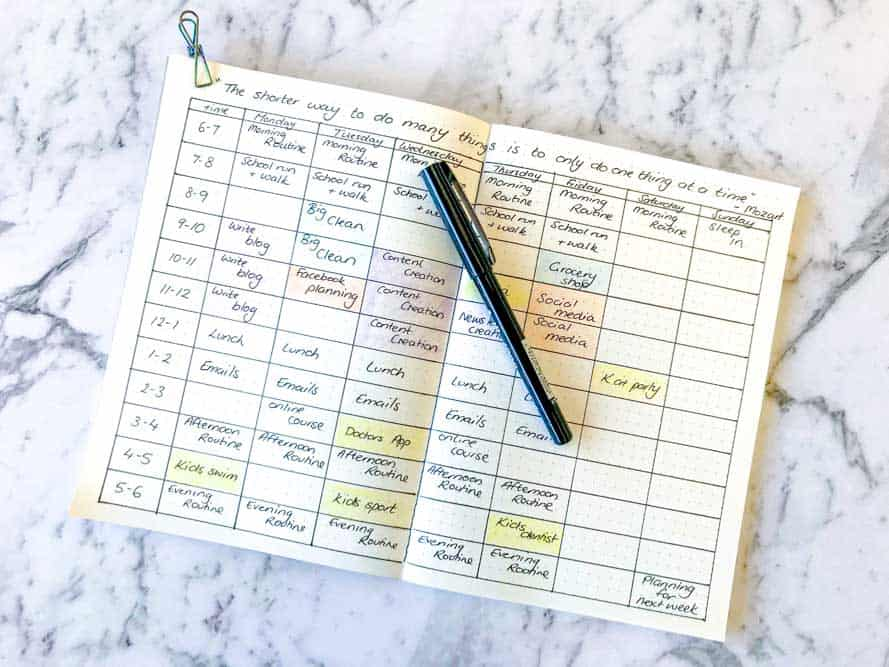 How To Time Block With Bujo