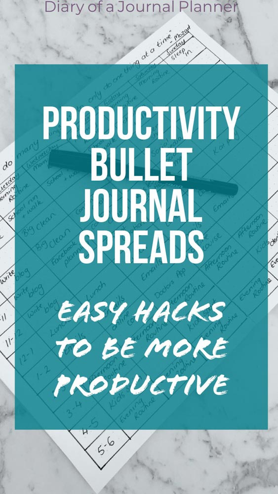 Productivity hacks for bullet Journal. Learn how to be more productive with time blocking method.