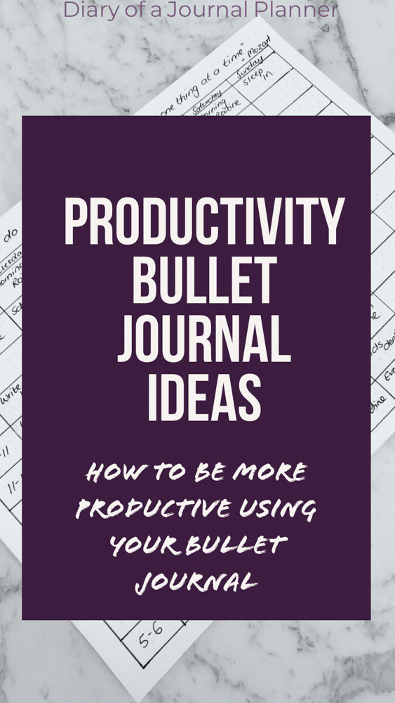 How to do more every week with our simple productivity tips. Easy Bullet Journal ideas to be more productive.