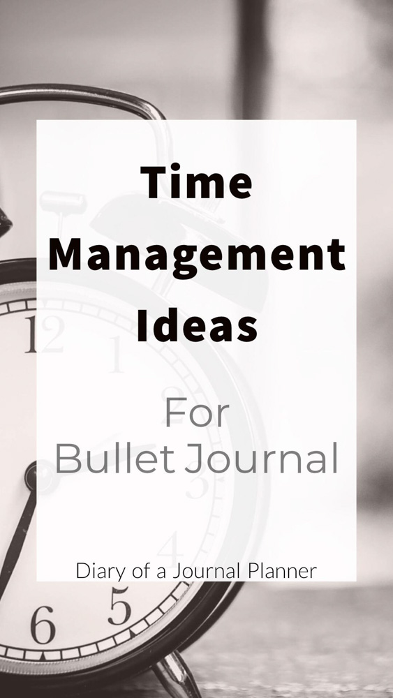 Time Management Ideas for Bujo. Get productivity spread ideas and time management hacks. The best way to use your Bullet Journal for a more productive week.