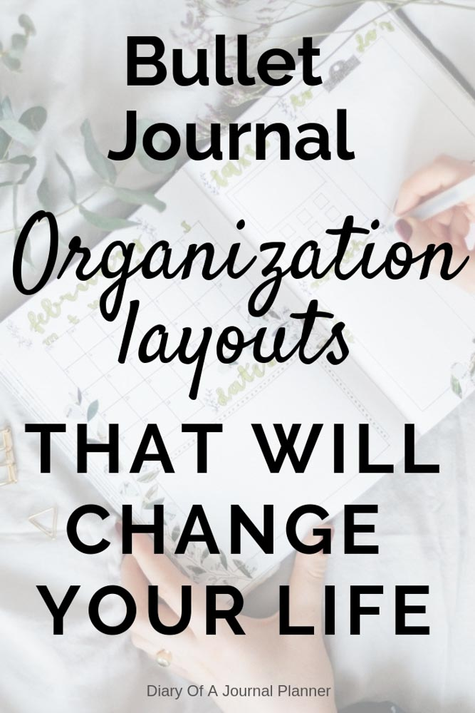 How to get organized in your life using a Bullet Journal. Easy Bullet Journal Spreads that will get you organized fast.